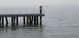 Hug on the dock