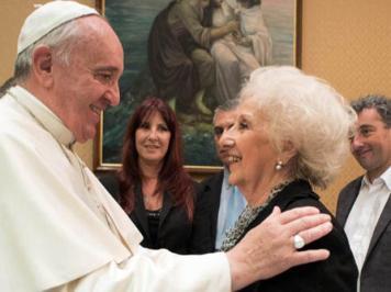 bergoglio presidenta de las abuelas de la plaza de mayo argentina