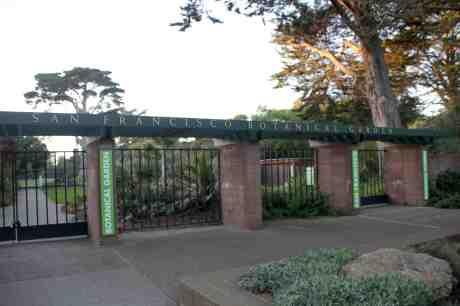 Main entrance to the San Francisco Botanical Garden