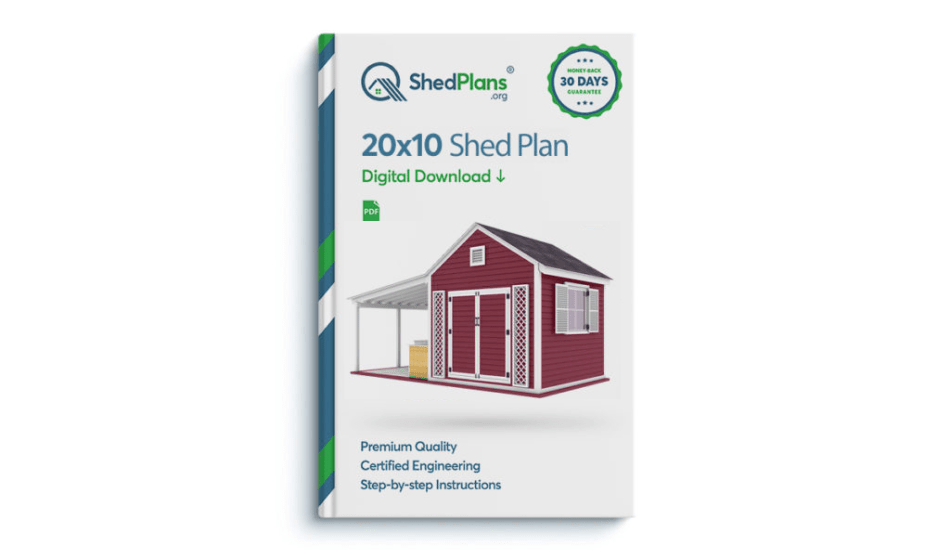 Book cover showing shed plan.