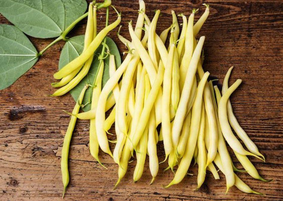 Bright yellow wax beans.