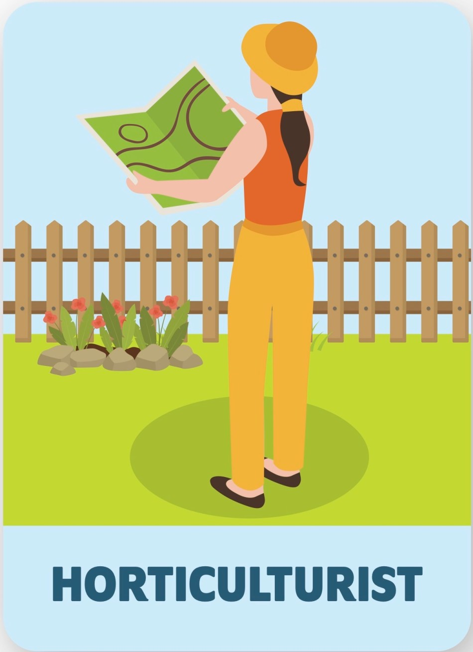 Illustration of horticulturist