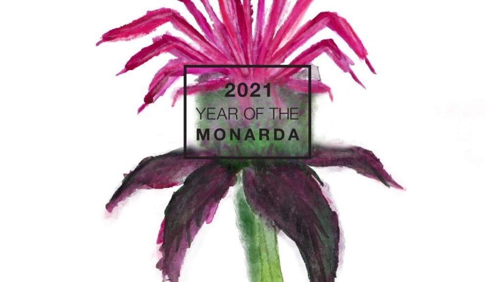 Year of the monarda logo.
