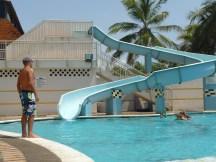 Un vistazo a la piscina.