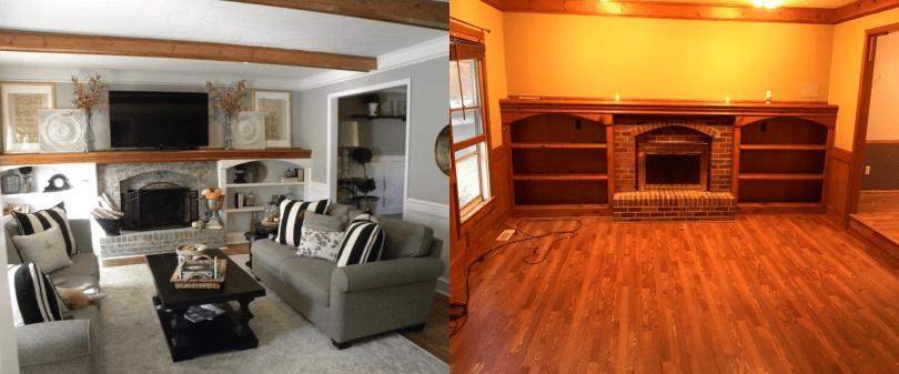 Laila Belles Living Room Before & After