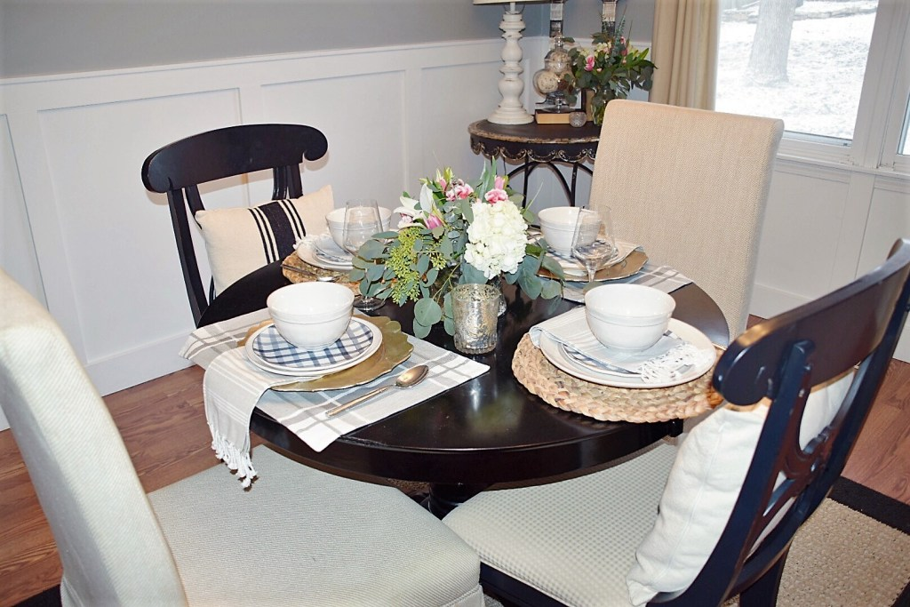 January Dining Room Table & Family Recipe