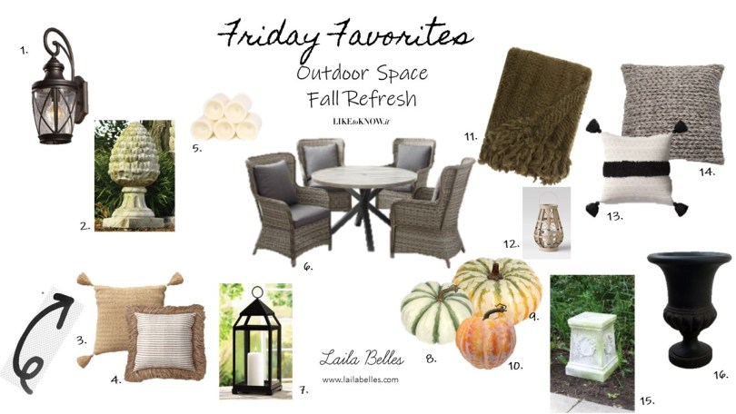 Friday Favorites Outdoor Space Fall Refresh
