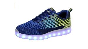 Men Mesh LED Light Up Sport Shoes