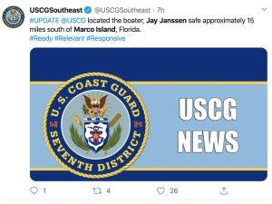 Jay Janssen missing update: Jay Janssen Marco Island found safe