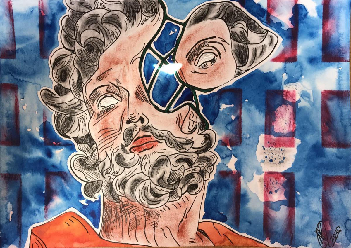 sueño realidad rostro ilustración