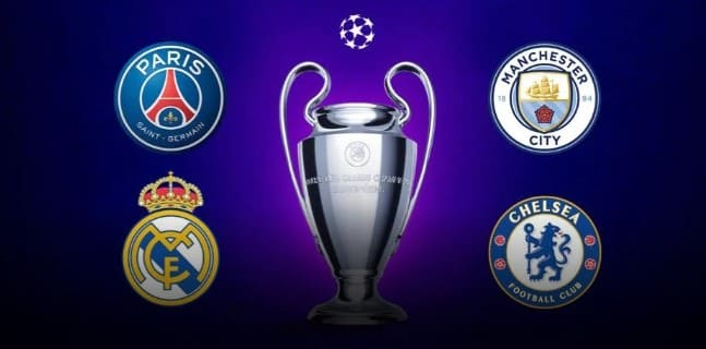 Champions League semifinal Real Madrid vs Chelsea. Manchester City vs PSG