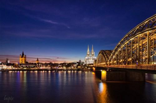 Köln: Blick vom Rheinboulevard