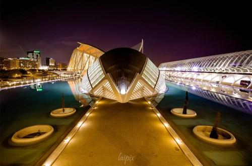 Futuristisches Gebäude in Valencia