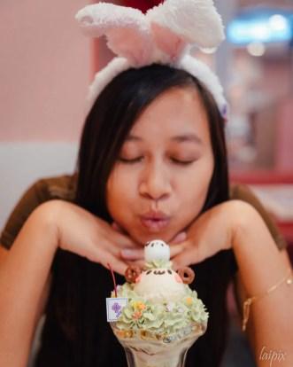 Niedliches Dessert in Bärchenform Kawaii Maid Japan Tipps Fotoreisen