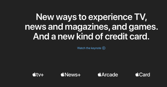 News+, Apple Arcade, Apple Card, Apple TV+, los servicios en streaming del AppleEvent.