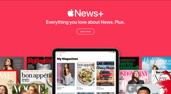 Apple News+ en el AppleEvent de Marzo de 2019.