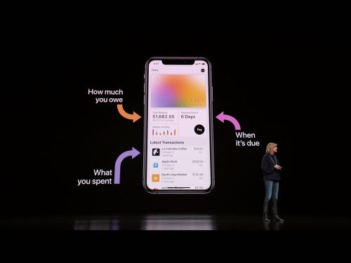 Apple Card en el AppleEvent de Marzo de 2019.
