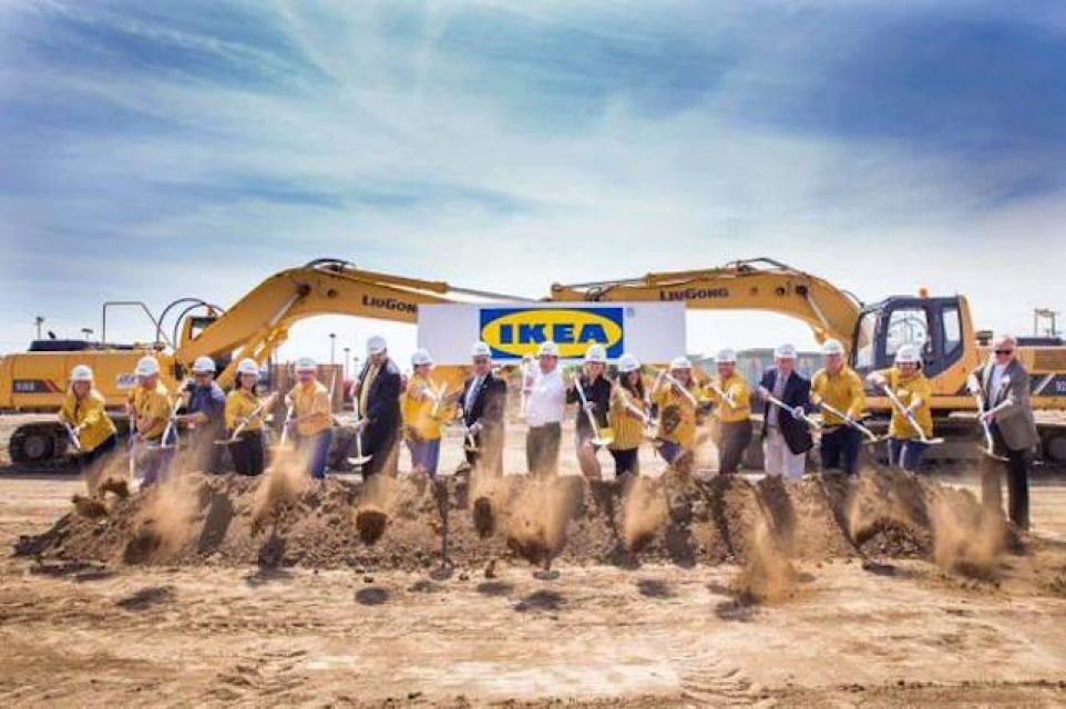 Americas Largest IKEA Is Being Assembled In Burbank LAist