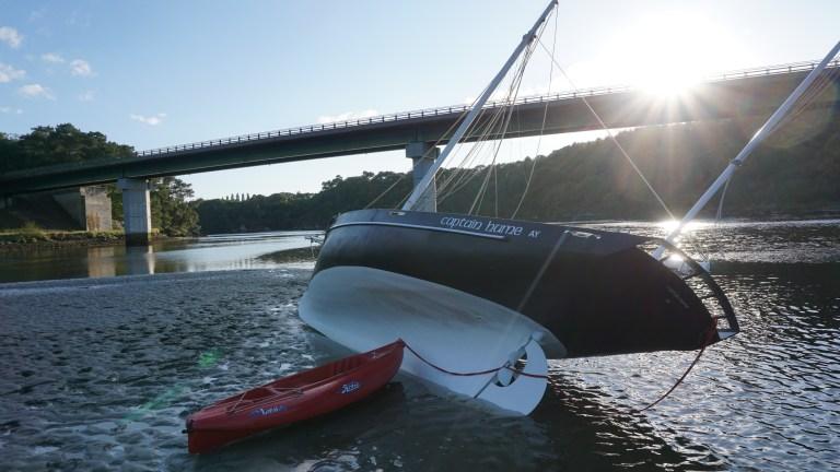Captain Hume échoué à marée basse