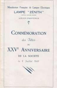 25e anniversaire des Lampes Zénith
