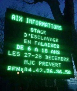 Esclavage à Aix !