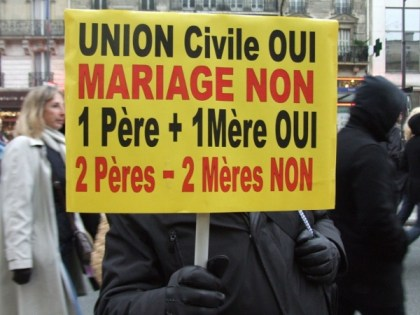 Civil UNION YES MARRIAGE NO1 Father + 1 Mother YES2 Fathers - 2 Mothers NO.Photo: Sasha Papazoff for La Jeune Politique
