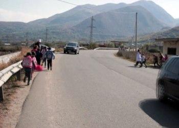 Rruga e rrezikshme për në shkollë