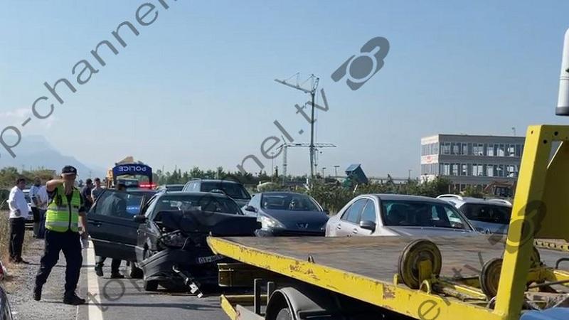 Aksident në aksin Lezhë-Milot/ Përplasen tre automjete