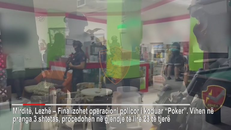 """Operacioni """"Poker"""" në Rrëshen/ Policia e Lezhës"""