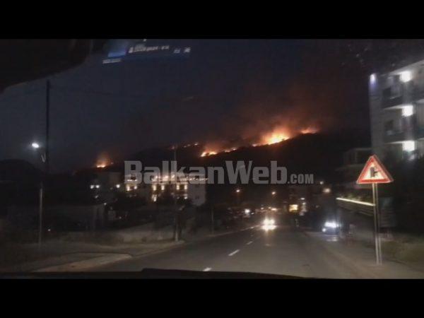 VIDEO/ Zjarr i madh në Ksamil të Sarandës