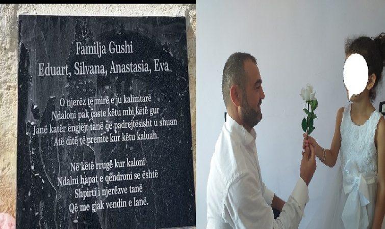 Lodra e një dedikim i ndjerë/ Familjarët vendosin memorial në vendin ku u shua familja Gushi: Janë katër engjëj që…