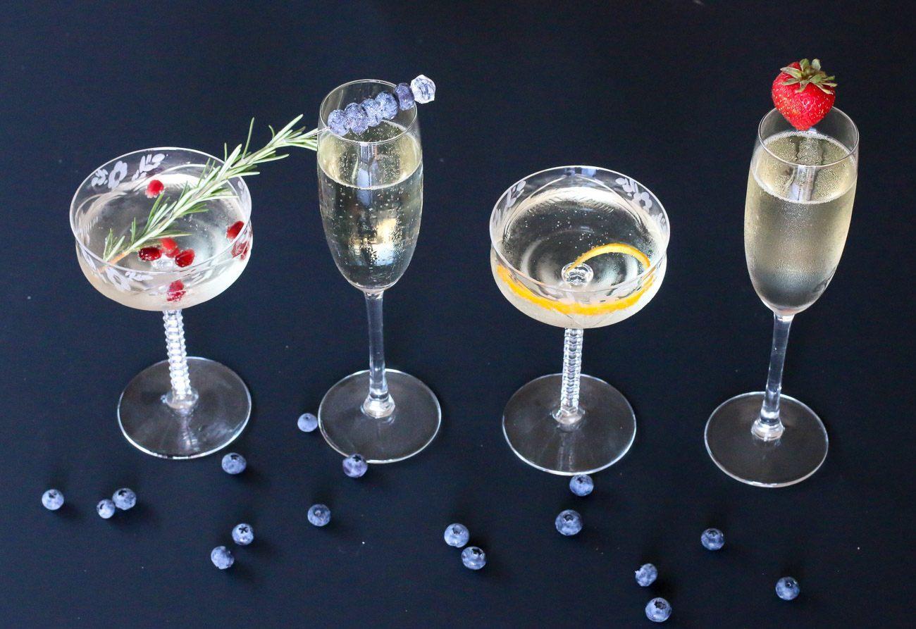 5 Really Easy Ways To Garnish A Champagne Glass La Jolla Mom