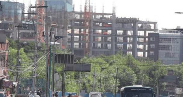 Construcción en la carretera México-Toluca, en imagen de archivo. Foto: José Antonio López