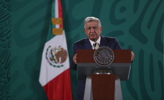 El Presidente Andrés Manuel López Obrador, durante su conferencia matutina en Palacio Nacional, en la Ciudad de México, el 11 de mayo de 2021. Foto: Yazmín Ortega