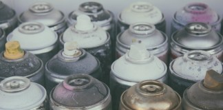 diy-Old spray cans