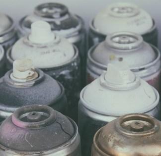 diy-Old spray cans