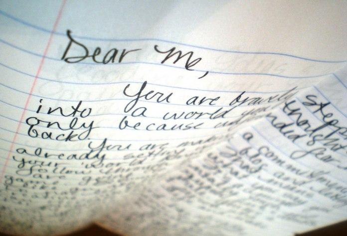 lettre jeune version de moi
