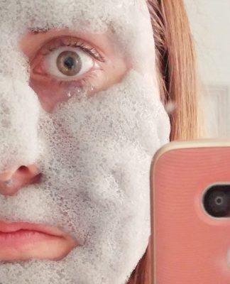 Masque d'argile moussant