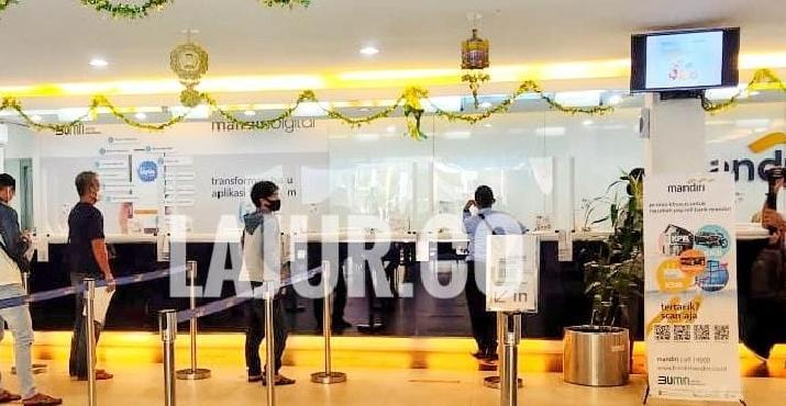 Penerapan Prokes Corona di Kantor Cabang Bank Mandiri Kendari