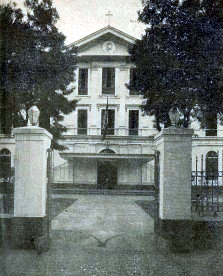 1932 The entrance to the Ateneo campus along Padre Faura street, Manila