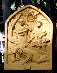 Loyola House of Studies, Stations of the Cross VI: Jesus Falls