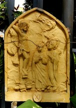 Loyola House of Studies, Stations of the Cross XI: Jesus speaks to Mary and John