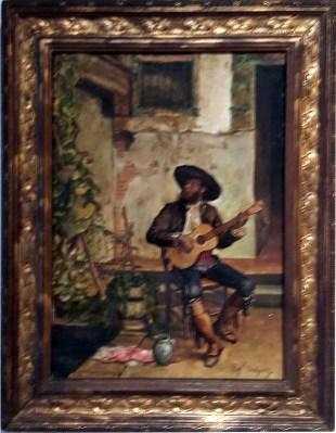 1886 Rafael Enriquez Sr. - Un Gitano Tocando la Guitara (A Gypsy playing the Guitar)