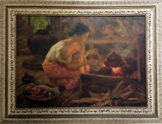 1959 Fernando Amorsolo - Woman Cooking in the Kitchen