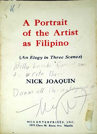 1966 Nick Joaquin - A Portrait of the Artist as Filipino