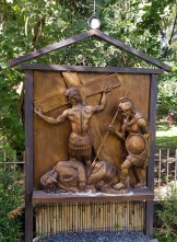 Garden of the Stations of the Cross: Jesus falls for the Second Time