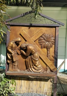 Garden of the Stations of the Cross: Veronica wipes the Face of Jesus