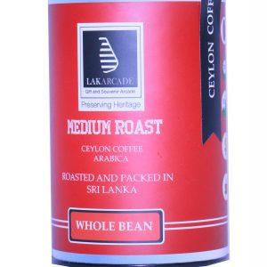 CEYLON COFFEE - MEDIUM ROAST - WHOLE BEAN 100G