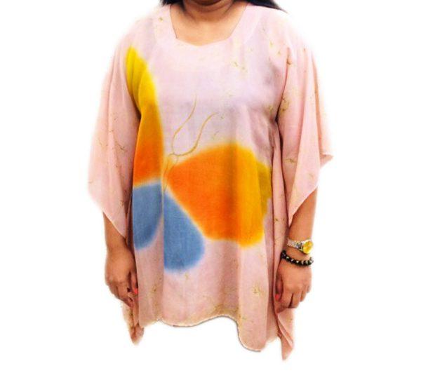 Batik Silk Poncho #06