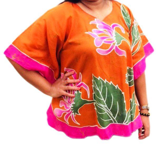 Batik Cotton Poncho #10